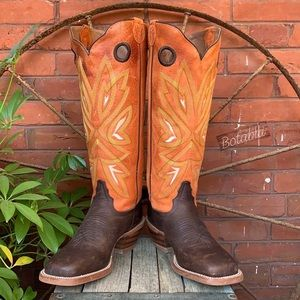 TONY LAMA Buckaroo 3R Tall Knee High Cowboy Boots